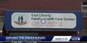 Screenshot from WTAE's coverage of ELFHCC's services.