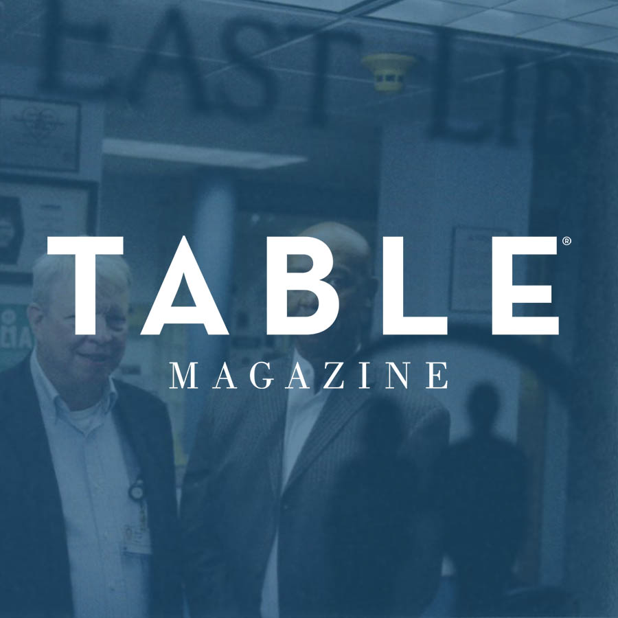 Table Magazine logo over an image of ELFHCC CEO Rodney Jones and Medical Director Dr. David Hall