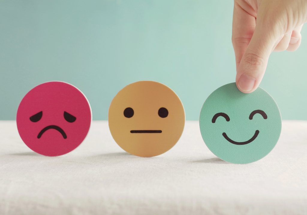 Mad, Indifferent and Happy Smiley Stickers